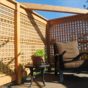 Sealed fir privacy screen